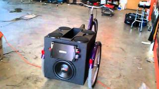 Three wheeled bicycle with custom stereo system