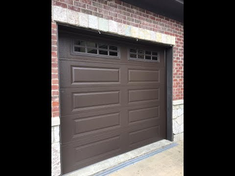 CHI 9x8 model 4283 garage door with single pane glass in clarendon hills,il 60514