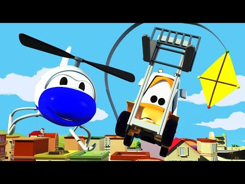 The Car Patrol: Fire Truck and Police Car and the Speeding Kites in Car City | Cars cartoon
