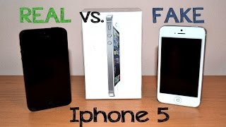 Real vs Fake Iphone 5 - Best 1:1 Copy - Perfect China clone - Full Review [HD]