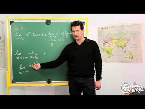 Limites de fonctions - Exercice 1 - Maths terminale - Les Bons Profs
