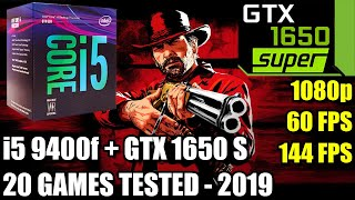 i5 9400f paired with GTX 1650 SUPER - Enough For 60 FPS? - 20 Games Tested - Late 2019 - 1080p