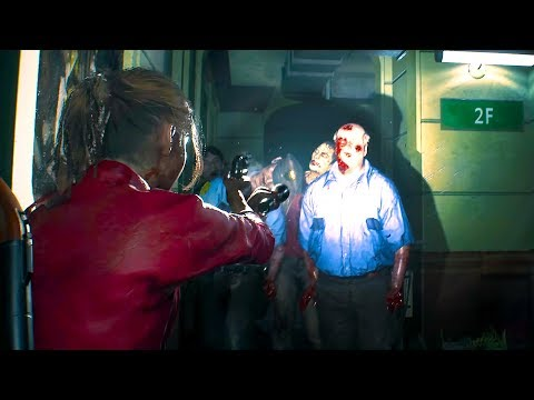 RESIDENT EVIL 2 REMAKE - NEW Gameplay Claire Redfield (TGS 2018)
