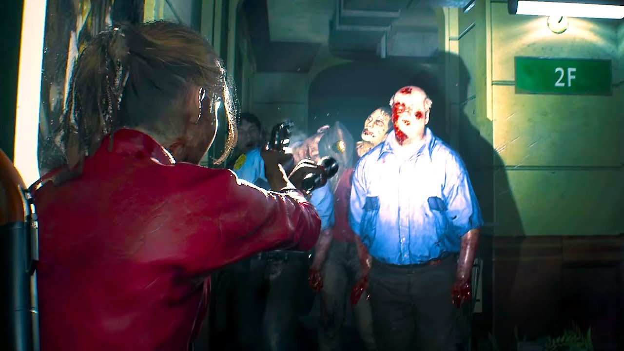 Resident Evil 2 Remake New Gameplay Claire Redfield Tgs
