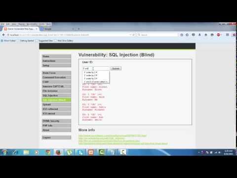 SQL and BLIND SQL INJECTION