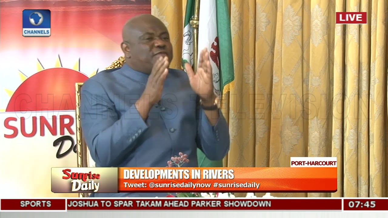 Gov Wike Speaks On President Buhari's Planned Visit To Rivers State |Sunrise Daily|