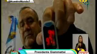 Presidente Giammattei se encuentra estable