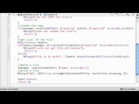 Objective C Programming Tutorial – 63 – Deleting and Printing Files