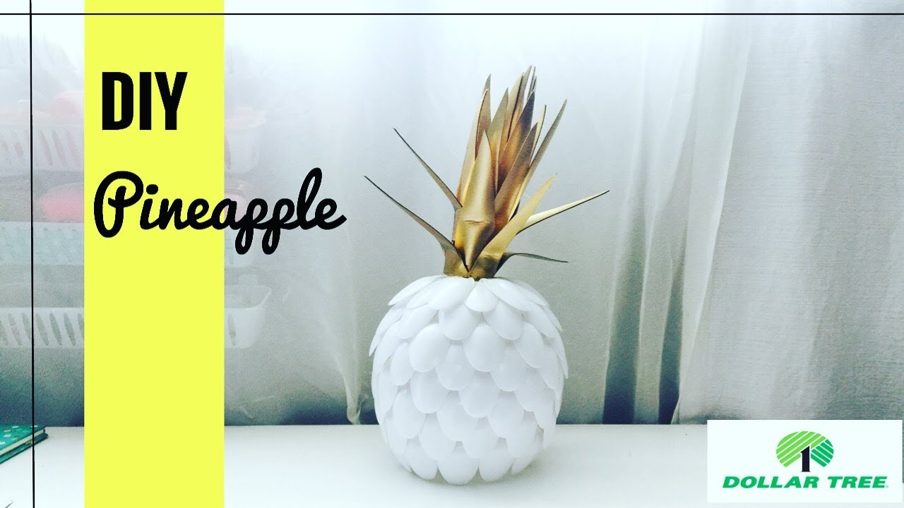 Pineapple DIY/ dollar tree items - YouTube