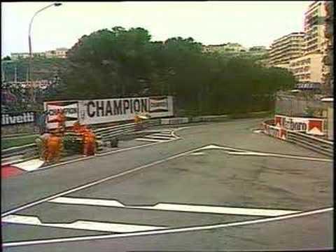 Gran premio de Monaco 1983 F1 GP super arrows crash