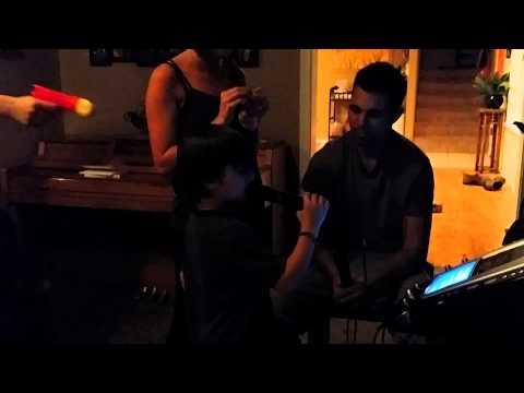 Karaoke Ethan sings iron man