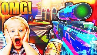 TROLLING LITTLE KIDS with the AIMBOT DLC GUN... (infinite warfare MOST UNFAIR DLC Weapon)