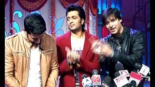 Vivek Ritesh n Aftaab promotes  their film on a Tv show