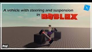 How to make a car with suspension in Roblox | Roblox Studio
