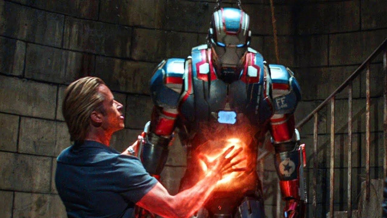 Download Tony Stark Escapes Rhodey vs Killian fight scene Iron Man 3 2013