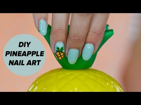 DIY Pineapple Nail Art Tutorial | Style Survival - DIY Pineapple Nail Art Tutorial Style Survival - YouTube