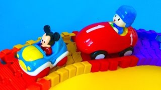 Pocoyo Race Track and Mickey Mouse