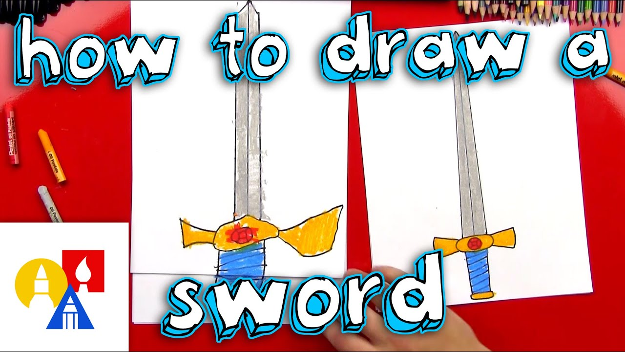 How To Draw A Sword With A Ruler (for young artists) #1