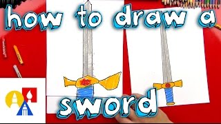 How To Draw A Sword With A Ruler (for Young Artists)