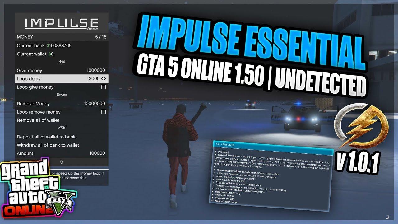 Impulse essential mod menu for GTA V