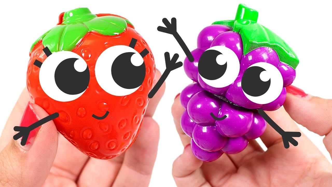 Frutas Animadas Aprendemos Los Colores Con Frutas Con Caritas Y Dibujos Para Colorear