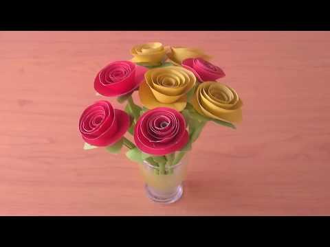 Mudahnya Membuat Bunga Dari Kertas Cocok Untuk Ketrampilan Anak Sd Youtube