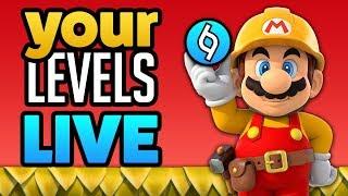 [LIVE] Super Mario Maker - YOUR RANDOM LEVELS!