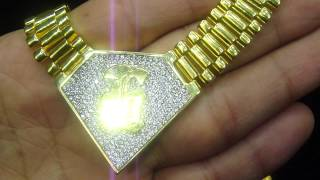 Custom Rolex Link Iced Out Necklace Chain(M4H06584)