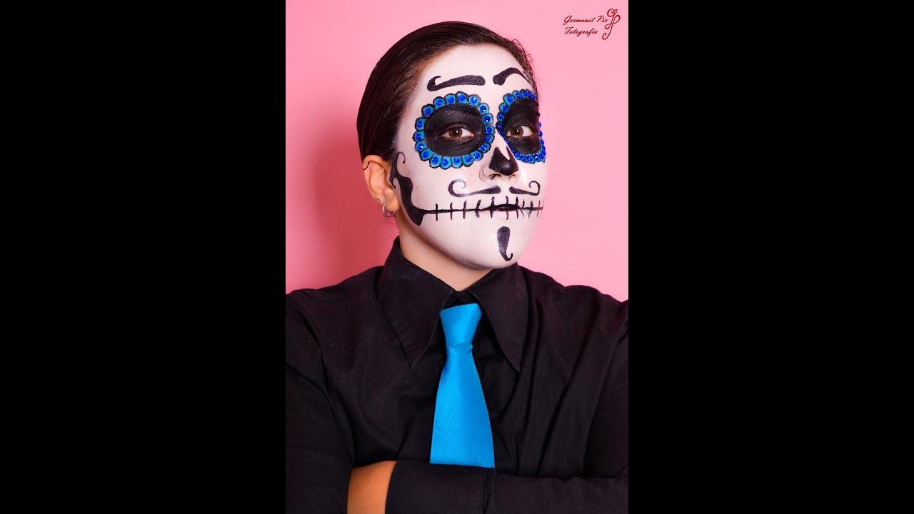 Maquillaje Disfraces 6 Catrina Hombre (Especial Halloween 2013) , Astharte Estilismo
