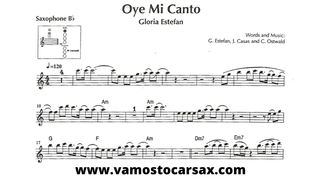 OYE MI CANTO [tenor sax] GLORIA ESTEFAN