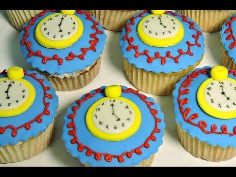 AliciaRecetasdeluzma Del De Reloj Cupcakes Cuento ZOkTwiuXPl