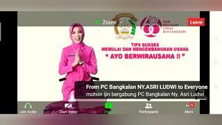 Bhayangkari Jatim Live Zoom Meeting Webinar Hari ini