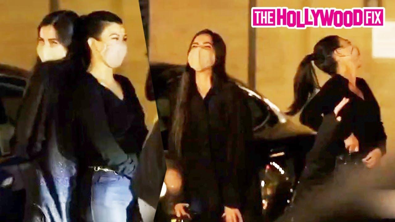 Addison Rae & Kourtney Kardashian Can't Stop Laughing While Leaving Dinner Together At Nobu Malibu