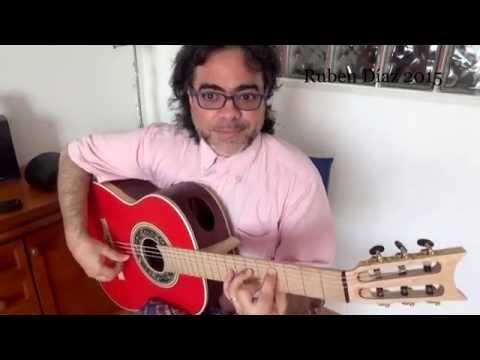 """Chords and melodies por """"Alegrias"""" IVm & V7b9 modern flamenco guitar lesson level 4 Ruben Diaz Spain"""