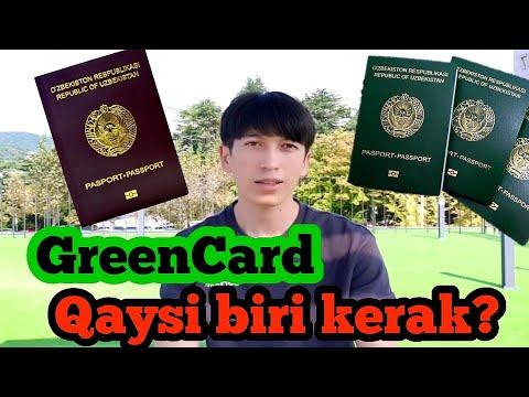 Grin karta 2021 yashil pasport bilan ham registratsiya qilish mumkin!/ Green card 2021/