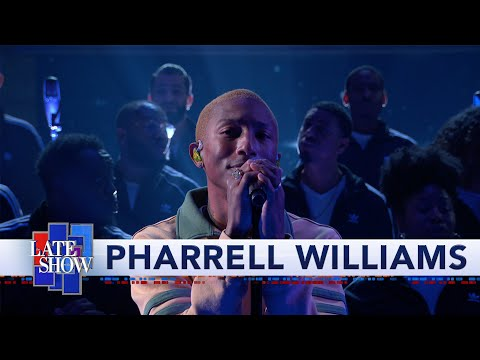 DJ Bee - WATCH: @Pharrell Williams gives a special performance on @ColbertLateShow