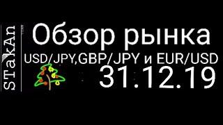 обзор рынка форекс сегодня 31.12.19. GBP/JPY, USD/JPY, EUR/USD