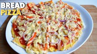 NO OVEN! SLICE BREAD PIZZA! | Precy Meteor