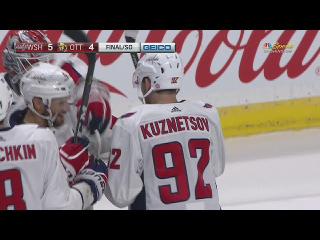 Ovechkin, Kuznetsov score goals in shootout