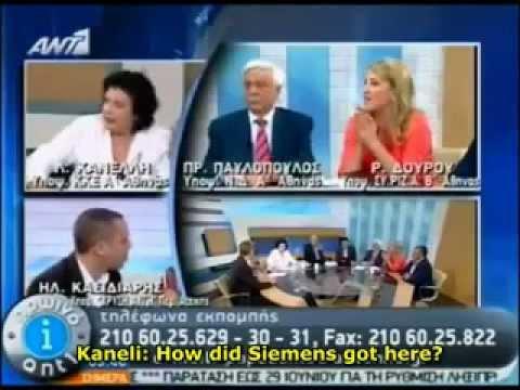 Greek far-right Golden Dawn Mp slaps another member in LIVE Tv (with English subtitles)
