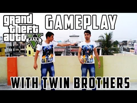 Grand Theft Auto V Funny Moments Game Play With Twin Brothers-Decrez