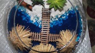 Teraryum yapımı. Make a terrarium.