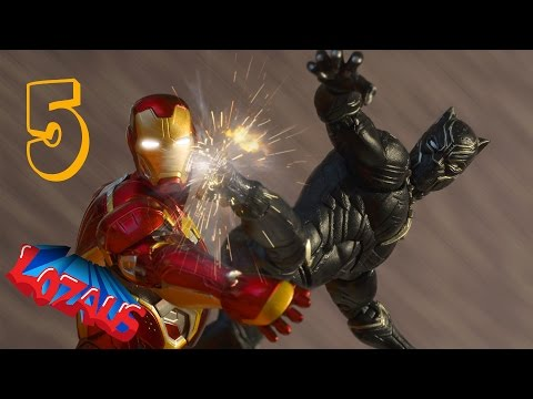 IRONMAN STOP MOTION Action Video Part 5 with Black Panther & Superior Spiderman