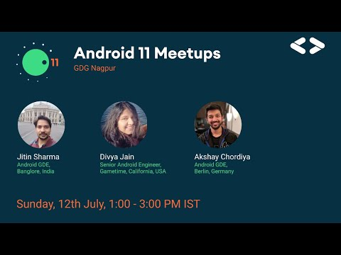 📣 Introducing #Android11Meetup