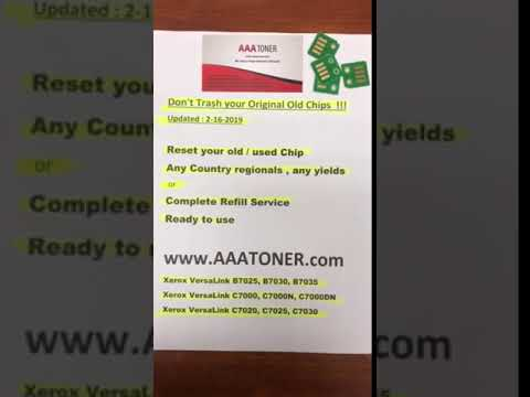 Reset your old / used Toner Chip for Xerox VersaLink C7020, C7025, C7030  Refill by AAATONER COM