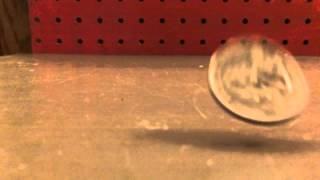Coin drop slow motion