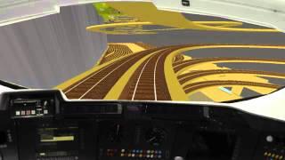 Spur N Anlage - virtuelle Fahrt auf meiner zukünftigen Anlage