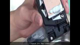 how to clean EPSON head by manual