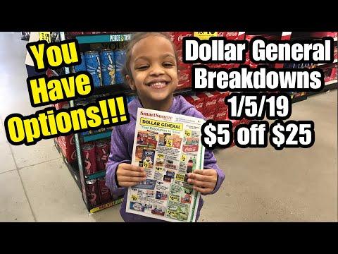 Dollar General BREAKDOWNS 1/5/19 ~ $5 off $25