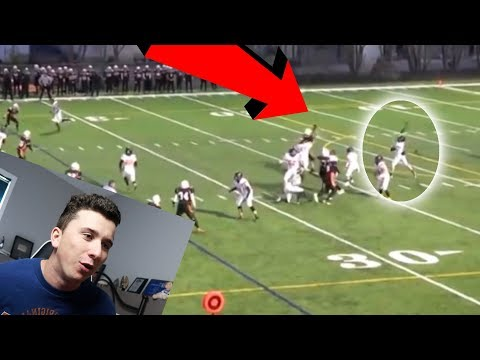 REACTING TO MY HIGH SCHOOL QUARTERBACK FOOTBALL HIGHLIGHTS!